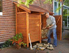 Costruire una legnaia fai da te da esterno con tettoia
