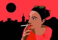 Portrait of my beloved Laura Flat Design, Digital Art, Illustrations, Portrait, Movie Posters, Film Poster, Popcorn Posters, Illustration, Portrait Illustration