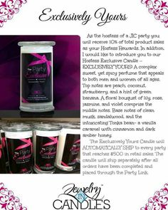 Host a party and receive an exclusive JIC candle.