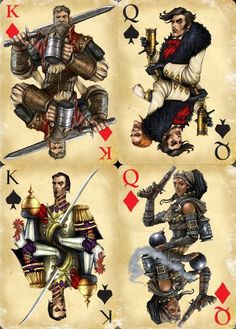Fable 3 Playing Cards by Widigan A selection of the Fable 3 playing cards Emrah Elmasli and I did for the limited edition, using character concepts Source CGHUB Character Concept, Character Design, Concept Art, Fable 2, Video Game Art, Video Games, Playing Cards Art, Silly Hats, Dragon Age Inquisition