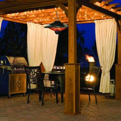 Paramount® Rustic Bronze Hanging Infrared Patio Heater from Coscto - Love the fact you can hang it...