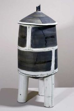 <b>Water Tower by Mary Fischer</b>, 2009<br>Ceramic, 23x9x9 inches<br>$850