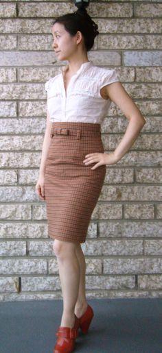 Burda 112 high-waisted skirt--selfish seamstress