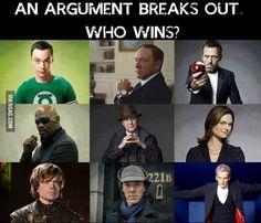 Sheldon, Frank Underwood, Or House