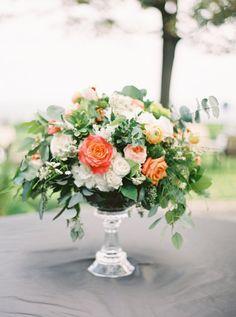 Dahlia and hydrangea wedding flowers: http://www.stylemepretty.com/canada-weddings/ontario/toronto/2017/02/28/anna-david/ Photography: When He Found Her - https://www.whenhefoundher.com/