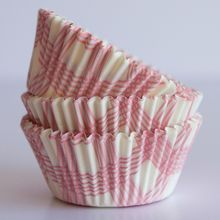 Cotton Candy Pink Summer Plaid Cupcake Liners - Bake It Pretty