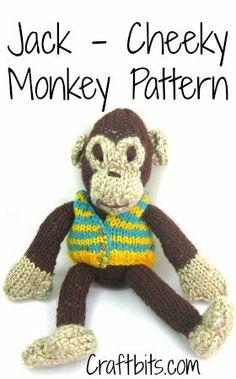 Jake Cheeky Monkey Knitted Pattern