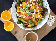 Appelsin/grape salat med avocado og feta – Malene Mandrup
