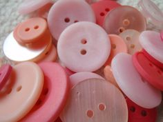 Pink Button Mix 1030mm 3050 Buttons by Spasojevich on Etsy, $2.20