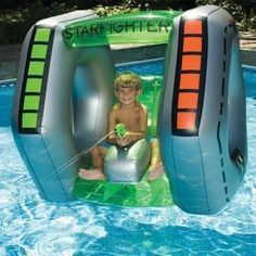 Inflatable Swimming Pool Starfighter Super Squirter Float Toy Pool Toy