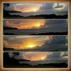 Sunset collage at Anini Beach. Yellow Sky, Night Skies, Looking Up, Collage, Sunset, Beach, Sunsets, Collages, The Beach