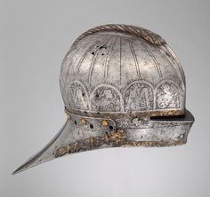 Tournament Sallet Made for Louis II (1506–1526), King of Hungary and Bohemia. Armorer: Attributed to Kolman Helmschmid (German, Augsburg, 1471–1532). Date: ca. 1525. Geography: Augsburg. | © 2000–2014 The Metropolitan Museum of Art.