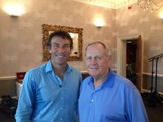 Pat Cash and golf legend Jack Nicklaus.  #tennis #golf #patcash #sport