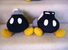 Crocheted Bob-omb bag  #etsy