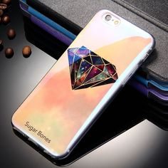 Luxury Blu-ray Clear Coque Silicone Case For iPhone 6 6S Cool Cases Blue Ray Fundas Cover For i Phone 6 S Case Capinha 6S Capa