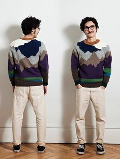 """Look Andrew (Pants """"REVERSO"""" + sweater """"LANDSCAPE"""")   Clothes by: http://www.facebook.com/LesExpatries Pictures by:  http://www.krop.com/laurebernard/ #beexpatminded #lesexpatries"""