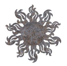Metal Sun Wall Décor with Burnished Blue Highlights. Features: Hassle-free, long-lasting performance Sun design with stylized flame accents Rustic look with burnished blue highlights Enhances decor aesthetics  Description:  Add a touch of finesse and elegance to your staid settings with this Metal Sun Wall Décor. Opulent and vivacious, this decorative piece will beautify any corner in your room. This wall decor piece has a captivating appeal, which makes it a perfect addition to enhance…