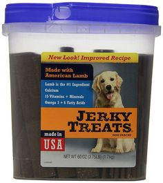 Jerky Treats Tender Strips Dog Snacks Lamb, 60 oz(3.75 lb) ** Discover this special product, click the image (This is an amazon affiliate link. I may earn commission from it)