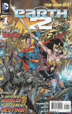 Earth 2 # 1 DC Comics The New 52!