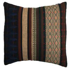 Burmese Tribal Cushion Cover Pillow | $45