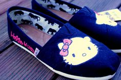 Hello Kitty TOMS by StellarKicks on Etsy, $75.00