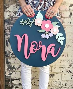 Wood Nursery Sign l l Wood Name Sign Wood Name Sign, Wood Names, Wood Nursery, Nursery Signs, Baby Name Signs, Baby Names, Wood Crafts, Diy And Crafts, Paper Crafts