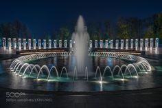 Winter Evening at the World War II Memorial #PatrickBorgenMD