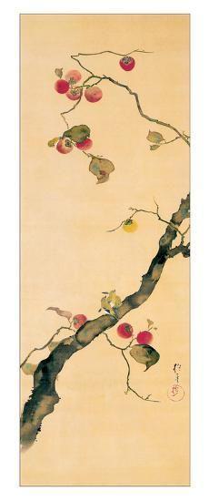 October Giclee Print by Sakai Hoitsu Japanese Artwork, Japanese Painting, Japanese Prints, Framed Artwork, Wall Art Prints, Framed Wall, Wall Mural, Murals, Sculpture Textile
