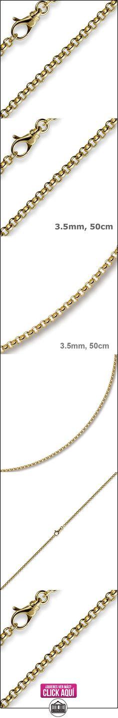 3,5 mm collar con colgantes bolas finas de{585} oro 50 cm unisex cadena de oro  ✿ Joyas para hombres especiales - lujo ✿ ▬► Ver oferta: http://comprar.io/goto/B00C6OAWEM
