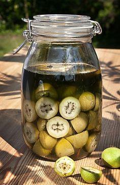 Recept z receptáře našich babiček na likér připravený ještě z nezralých ořechů.