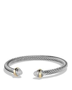 David Yurman Cable Classics Bracelet with Diamonds and Gold | Bloomingdale's