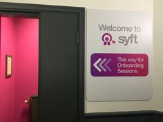 #Hotpink hallways leads to #SYFT #onboarding sessions  #roostreet #RooSt #interiors #Manchester