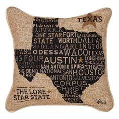 USA Texas Throw Pillow