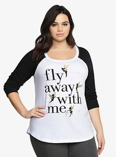 Disney Tinkerbell Fly Away Raglan | Torrid