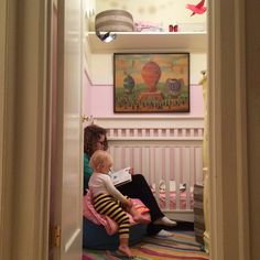 Phoebe's Closet Nursery - Designed by Michelle Workman and Jennifer Latch. Featuring The Land if Nod. Small Space Nursery, Nursery Nook, Making Space, Small Baby, Baby Rooms, Nursery Design, Phoenix, Small Spaces, Toddler Bed