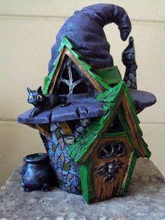 Halloween miniature house