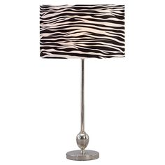 Found it at Wayfair - Zebra Table Lamp in Silver, Black & White (Set of 2)