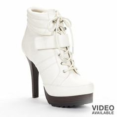 Jennifer Lopez Lace-Up Booties