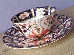 Antique 1920's English Imari tea cup and saucer by ShoponSherman