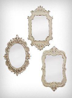 $52 Antiqued Vintage Style Mirrors Set #gypsy #bohemian #decor