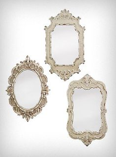 Vintage style mirrors, set of 3. $52