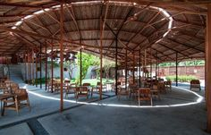 Salvaged ring is a coffee shop located along side with a highway in the countryside of Nha Trang, Vietnam