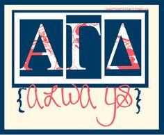 Love it! omg combine the always with the harry potter font kappa delta www.greekt-shirtsthatrock.com