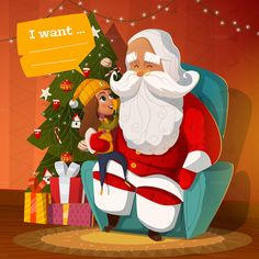 3 Santa Claus Illustrations by drumcheg on Creative Market
