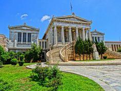 University of Athens, Panepistimiou Street Walking Tour, Athens, University, Tours, Mansions, Street, House Styles, Home, Decor