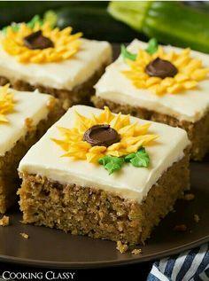 Sunflower carrot cake