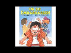 I'm So Embarrassed by Robert Munsch audio book 2nd Grade Books, Third Grade Reading, Grade 2, Guided Reading, Preschool Books, Book Activities, Trade Books, Readers Workshop, Writing Workshop