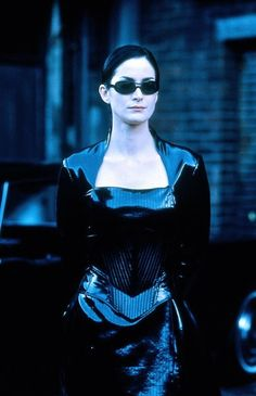 Matrix.Trinity.Carrie Ann Moss. Dodge This! One of the coolest movie characters ever.