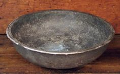 Very Early Pewter Basin