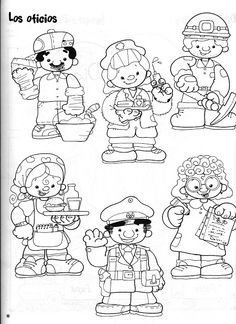 Community Helpers Worksheets, Community Helpers Kindergarten, Coloring For Kids, Adult Coloring, Coloring Sheets, Coloring Pages, Community Workers, Kindergarten Worksheets, Digital Stamps